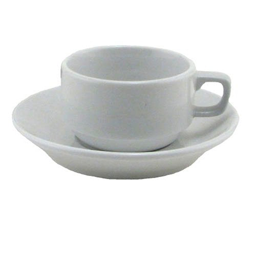 BIA Cordon Bleu Bistro Espresso Cup and Saucer, Set of 4, White