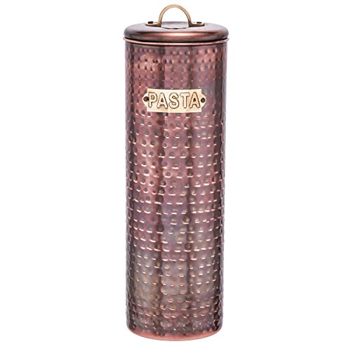 "Old Dutch Hammered Antique Pasta Canister, 12"", Copper"