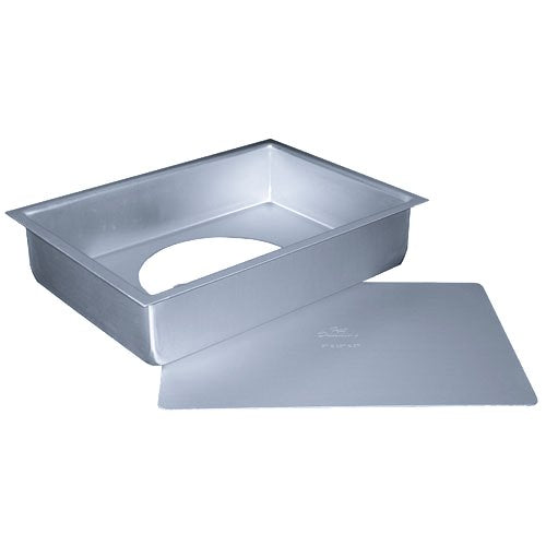 Fat Daddio's Anodized Aluminum Sheet Cheesecake Pan with Removable Bottom, 9 Inch x 13 Inch x 2 Inch