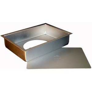Fat Daddio's Anodized Aluminum Sheet Cheesecake Pans with Removable Bottoms