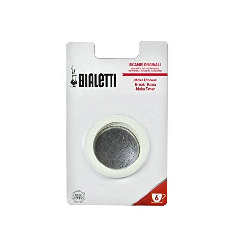 Bialetti Moka Express 6 Cup Replacement Filter and 3 Gaskets