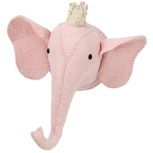 Mud Pie Mini Elephant Mount, Pink