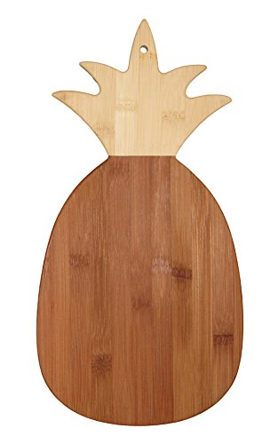 "Totally Bamboo Pineapple Shaped Bamboo Cutting & Serving Board, 14.5"" Long"