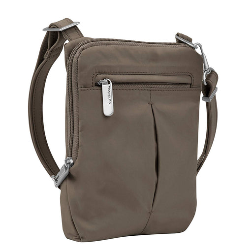Anti-Theft Classic Light Slim Mini Crossbody Bag, Mocha Color