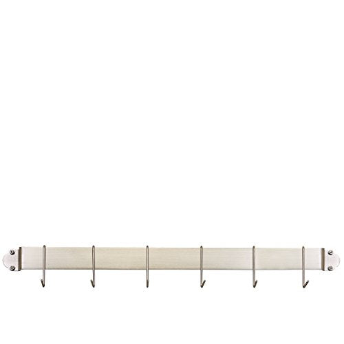 "Old Dutch 34"" Bar Rack with 6 Hooks, Satin Nickel"