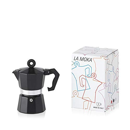 Illy Coffee Moka Pot, 3 CUP, Black