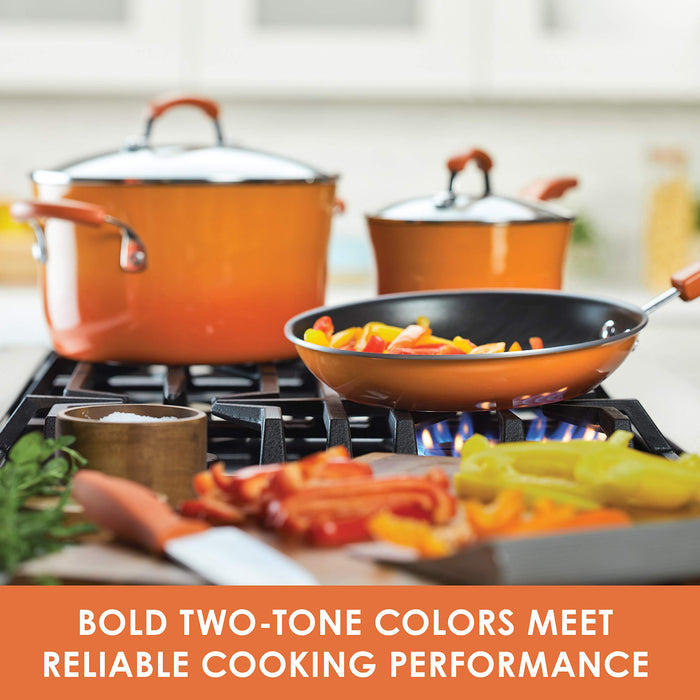 "14-Piece Set:  1 Qt. & 2 Qt. Covered Saucepans, 6 Qt. Covered Stockpot, 8.5"" & 10"" Open Skillets, 3 (national)"