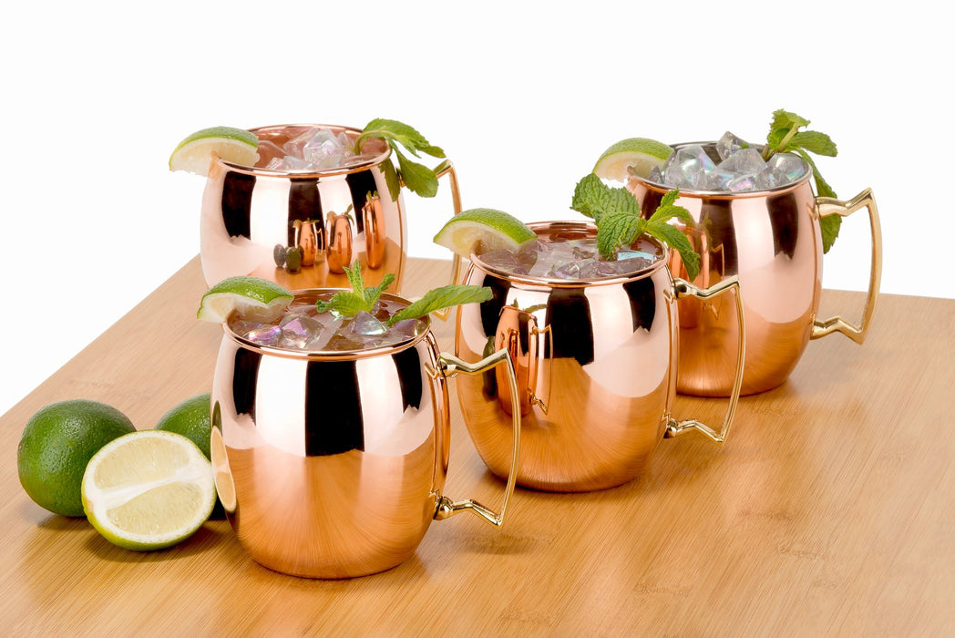 Unlined set of 4 smooth mule mugs