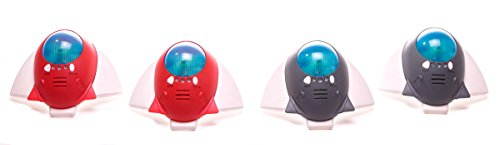 Laser Spaceship 4 Pcs (Red/Grey) in Plain Box