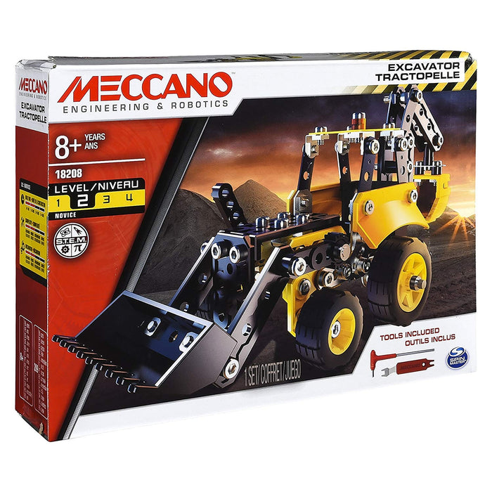 Erector by Meccano - Excavator Truck Model Vehicle Building Kit, for Ages 8 and up, STEM Construction Education Toy