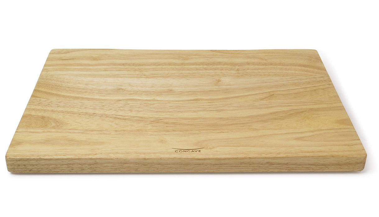 XL CARVING BOARD Rectangle Rubberwood Concave with gripper feet