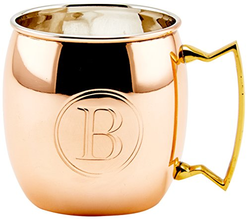 B Monogrammed 16oz Moscow Mule