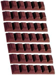 Fat Daddio's Polycarbonate 6-Square Bar Candy Mold 7-Bars Per Tray