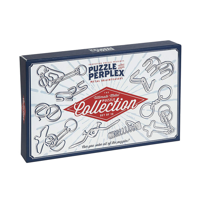 Professor Puzzle Set of 10 Metal Puzzles