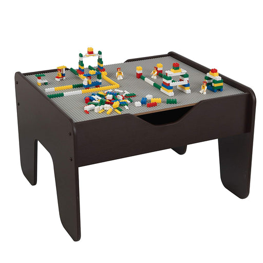 Activity table with board, Espresso/Grey