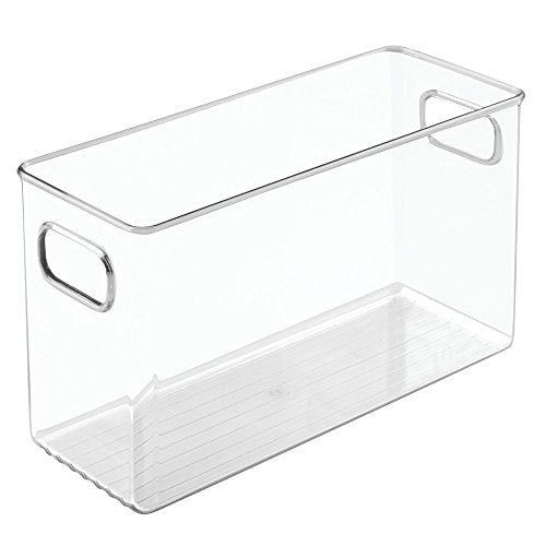 InterDesign Kitchen Pantry and Cabinet Storage and Organization Bin, 10-Inch by 4-Inch by 6-Inch, Clear