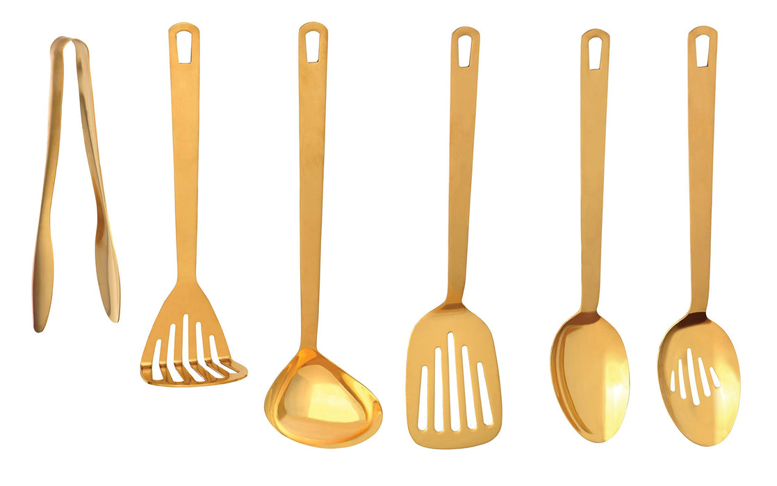 Chef's Tools Gold Collection Solid Spoon