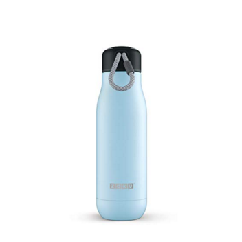 Zoku Stainless Steel Water Bottle 12-Ounce; Ice Blue