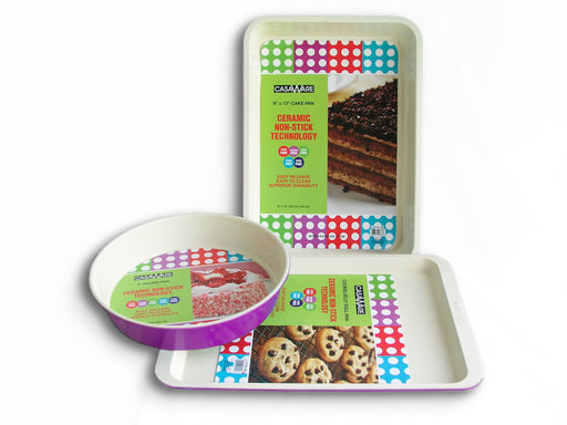 117975 Purple Bakeware Set 3pc Purple