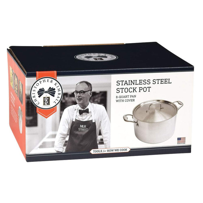 8 Qt. Stainless Steel Stock Pot with Cover