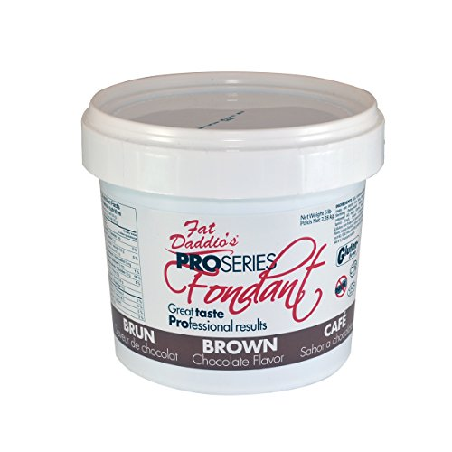 Fat Daddio's Fondant, Brown, 8 oz, Chocolate Flavor