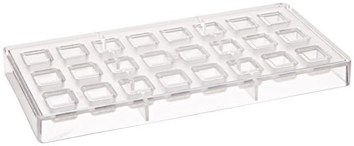 Fat Daddio's Ridged Rectangle Polycarbonate Candy Mold 24-Piece Tray