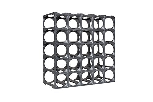 StakRax-stackable, modular wine rack-50 bottle set - silver