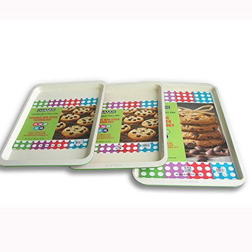 117861 Green  Cookie Sheet 3pc Set