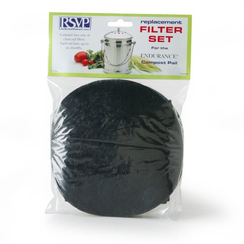 RSVP Replaceement Filters for Compost Pail - X-Large