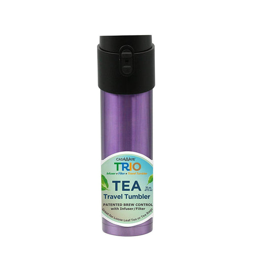16 oz Trio SS Tea Travel Mug- Purple