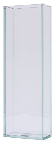 Design Ideas Vision Rectangle Vase, Medium, Clear