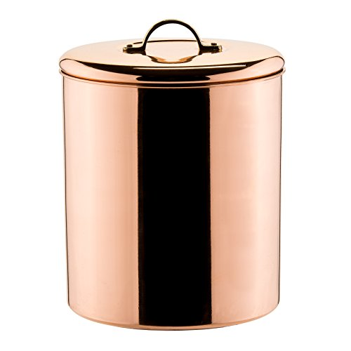 Polished Copper Cookie Jar w/Brass knob, 4Qt.