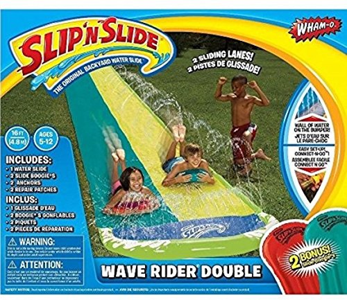 Wham-O Slip N Slide Wave Rider Double with 2 Slides