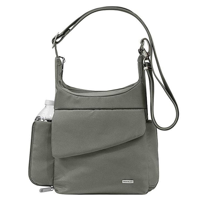 Travelon Anti-Theft Classic Messenger Bag (Pewter)