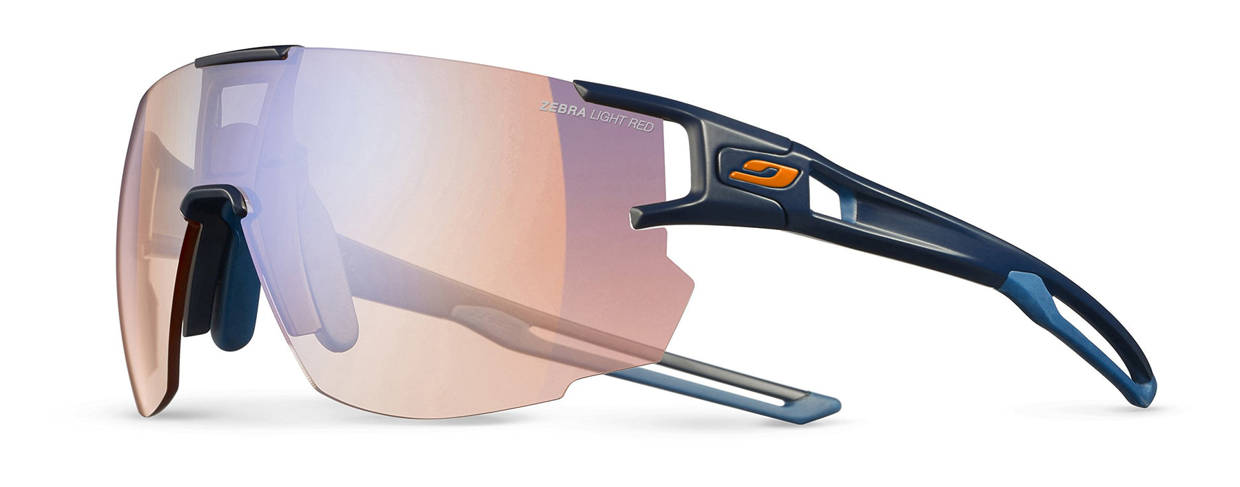 Julbo Aerospeed Sunglasses - Zebra Light Red - Dark Blue/Dark Blue/Orange