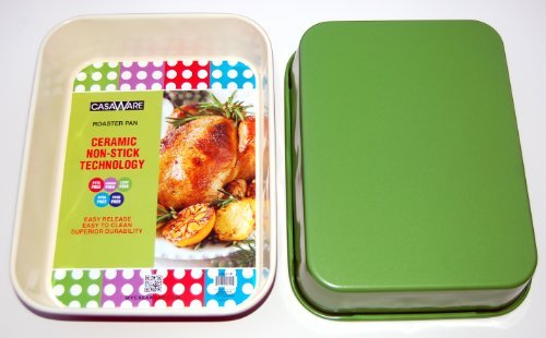 "116876 Green  Roaster Pan 13"" x 10"" x 3"""