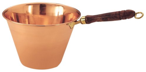 Old Dutch Solid Copper Polenta Pan with Wooden Handle 5 Quart