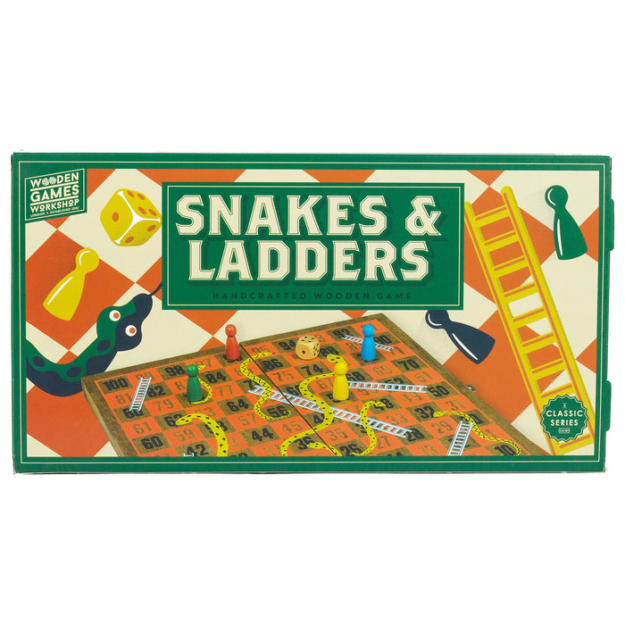 Wooden Games Workshop Snakes and Ladders