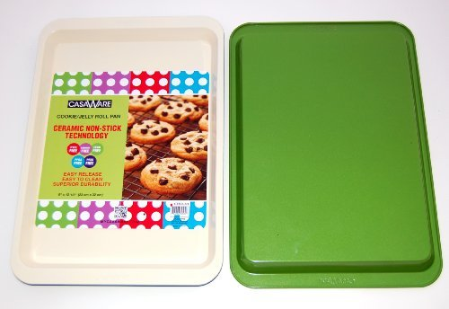"116864 Green  Cookie/Jelly Roll Pan 9"" X 12.5"""