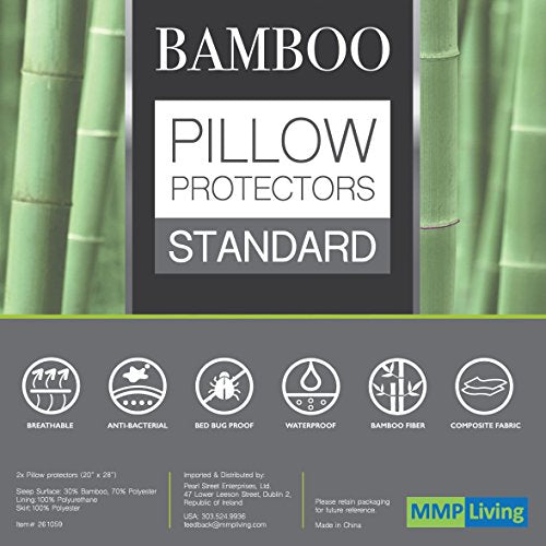 "Bamboo Pillow Protectors - Standard (28"") Set of 2"