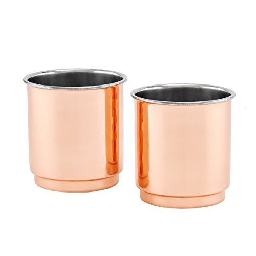 Old Dutch 2 Ply Copper/Stainless Whiskey Plain Straight Sided Tumbler, Copper