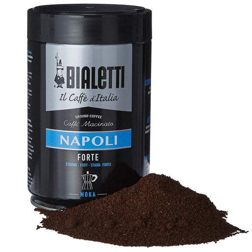 Bialetti Coffee, Moka Ground, Dark Roast, Napoli, Italy Signature Robusta Arabica Blend