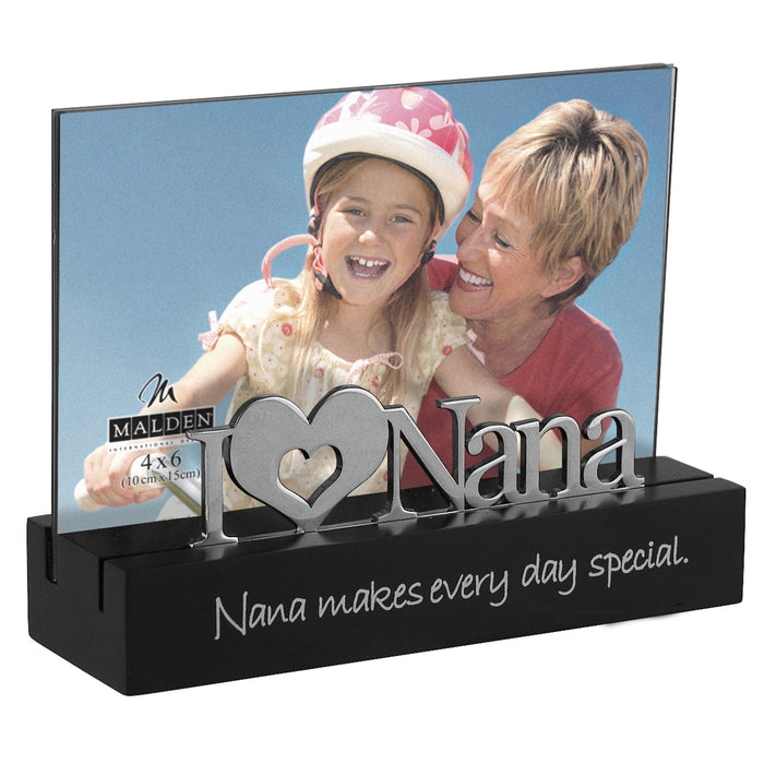 Malden Nana Desktop Expressions Frame with Silver Word Attachment 4 by 6-Inch