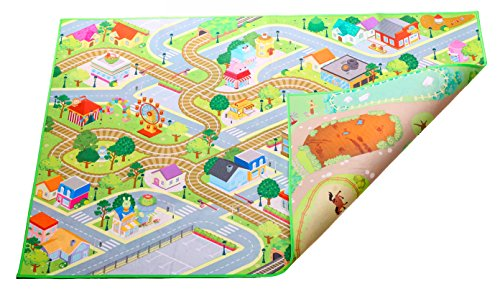 Kids Double Sided Felt Play Mat - 2 in 1 City & Farm - Limited Edition
