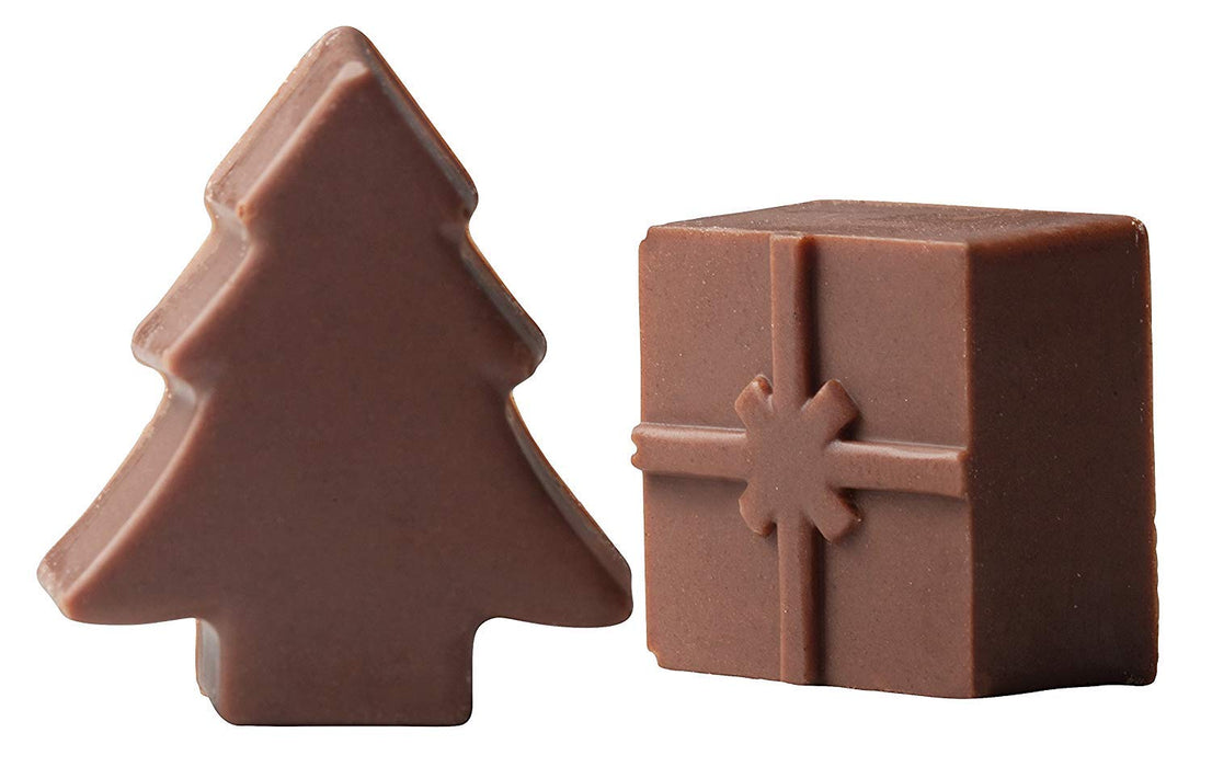 Mrs. Andersons Baking Chocolate Mold, European-Grade Silicone, Holiday, Set of 2
