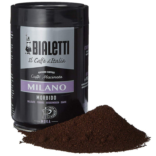 Bialetti Coffee, Moka Ground, Light Roast, Milano, Italy Signature 100% Arabica Blend