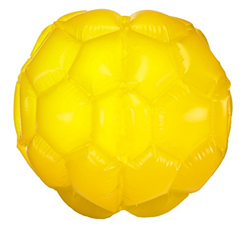 Large Belly Bump Ball, inflatable outdoor bumper ball - single (1 unit) - Yellow