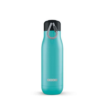 Zoku Stainless Steel Water Bottle 12-Ounce; Teal