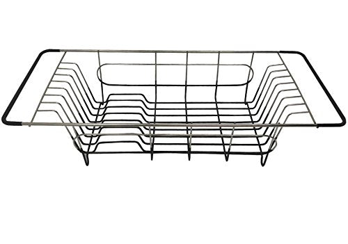 "Over Sink Dish Drainer, 19.25 x 8.25 x 4.5""H, Stainless Steel"