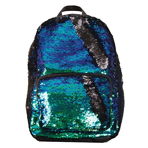 Magic Sequin! Reversible Sequin Iridescent to Black Mermaid Fashion Backpack